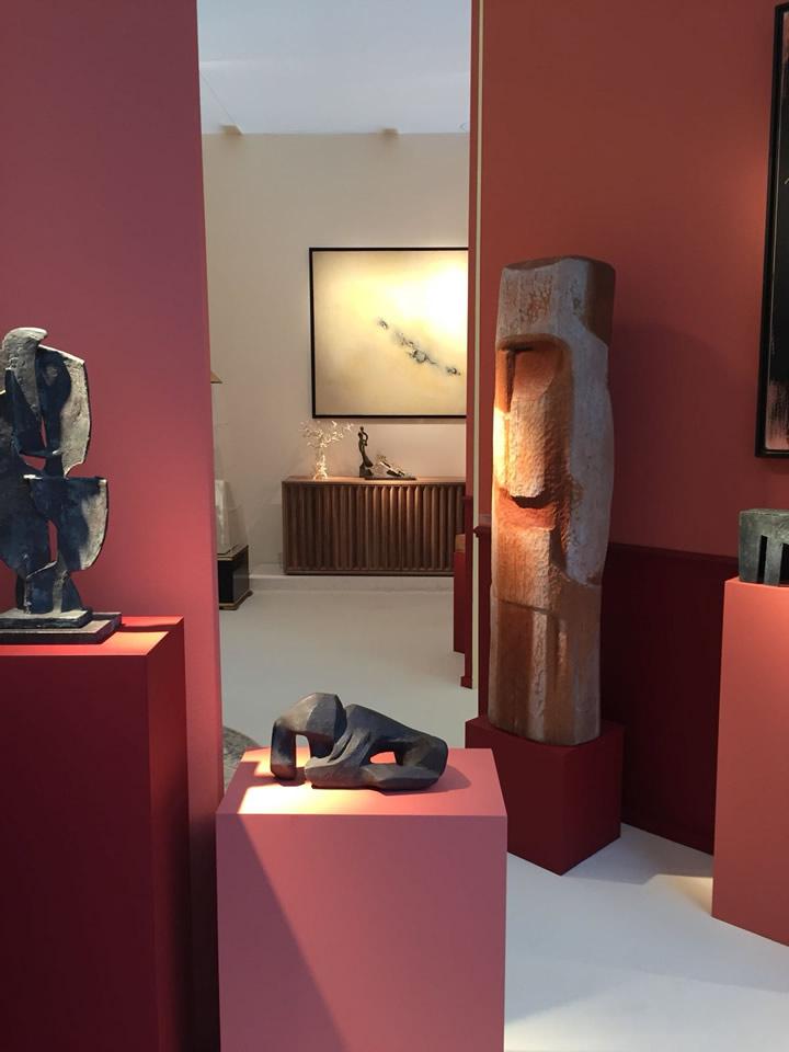 Vista della credenza Antimo nello stand della Galleria Martel-Greineral al BRAFA Art Fair 2018 (Bruxelles)