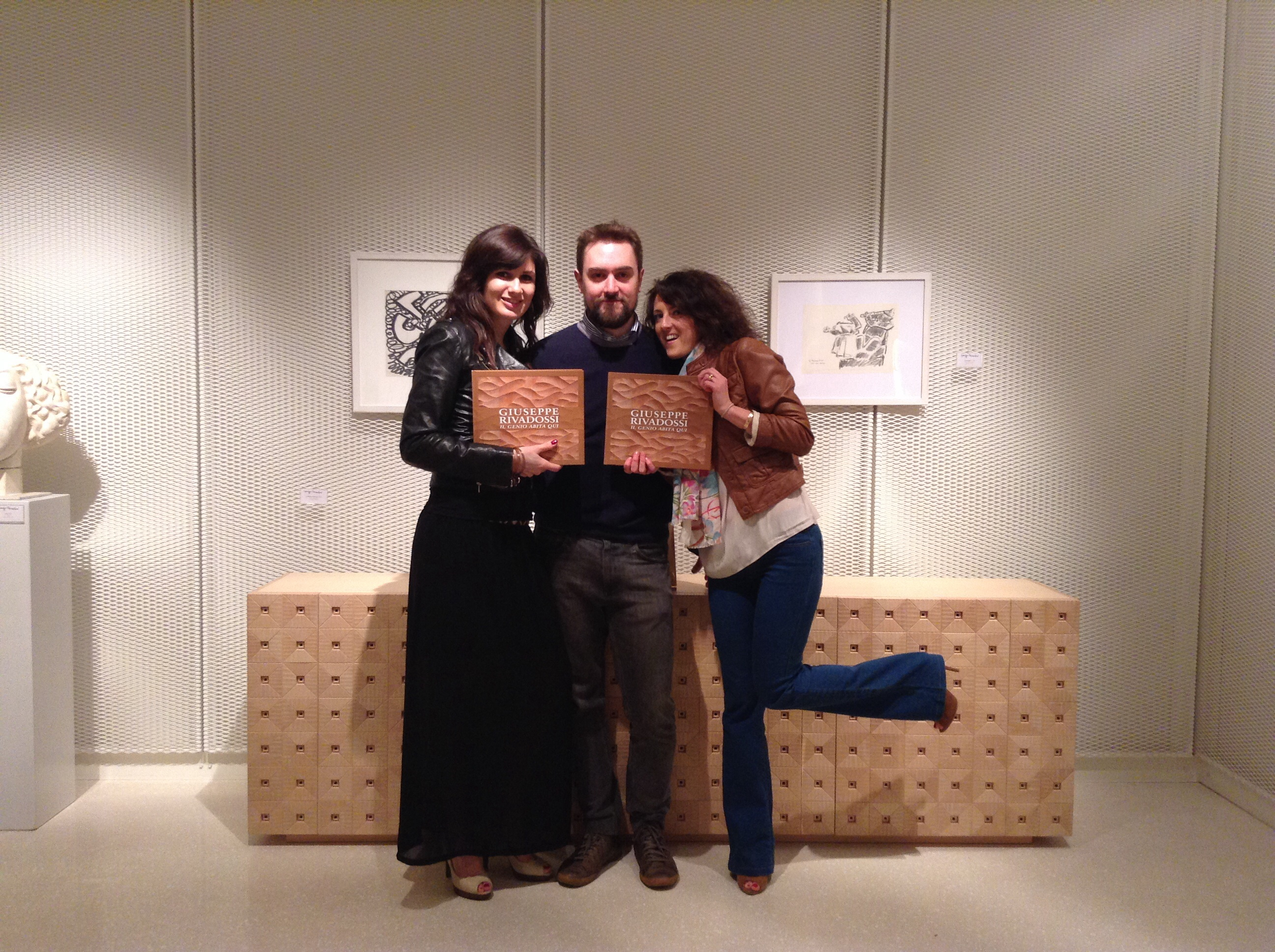 Fans posed with our catalogue and Mossaic Dresser