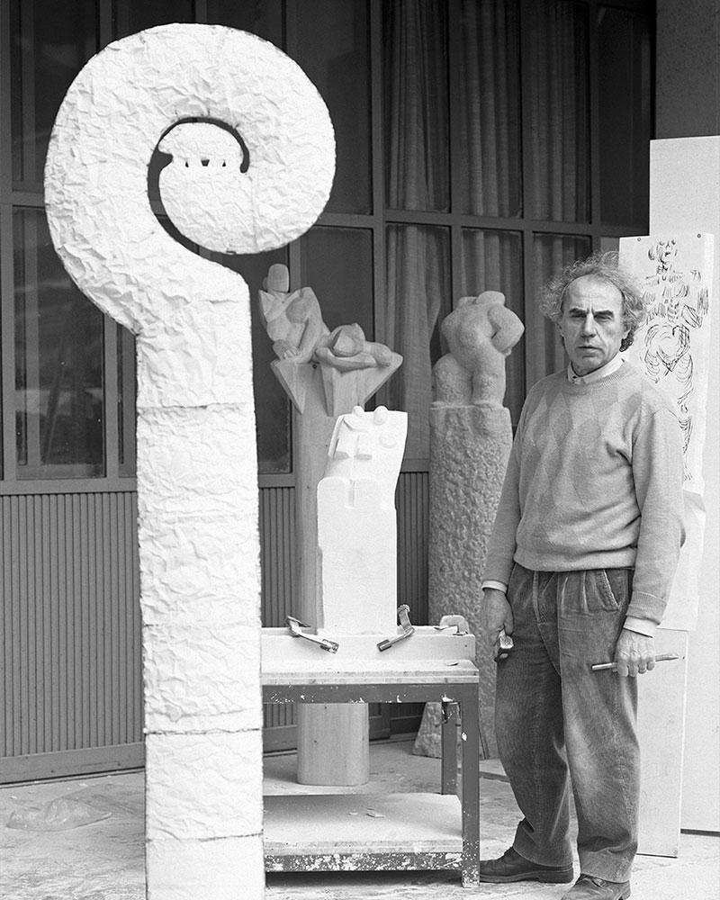 Giuseppe nel suo atelier di Nave (Brescia) Rivadossi Habito