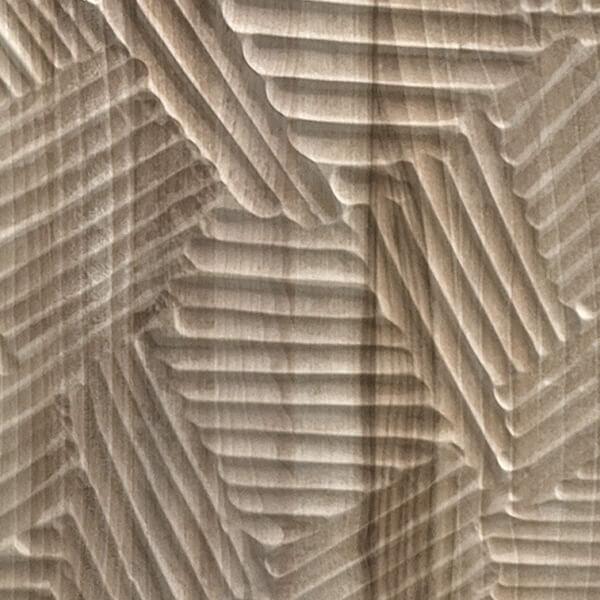 Taglio di sgorbia finger prints Finitura Habito